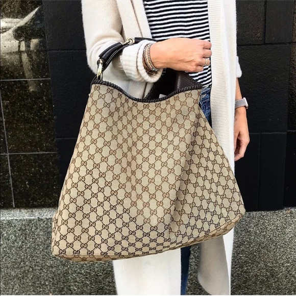 Gucci Handbags - Gucci Large GG print hobo